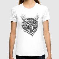 bioworkz T-shirts featuring Ornate Owl Head by BIOWORKZ
