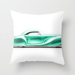 Vintage 1934 teal green Packard Eight 2/4-Passenger Coupe Throw Pillow