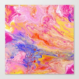 Pink and Yellow Abstract Canvas Print