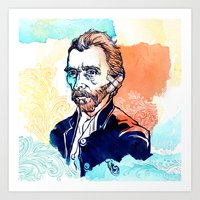 van gogh Art Prints featuring Van Gogh by Jon Cain