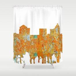 Greensboro, NC Skyline - Rust Shower Curtain