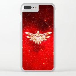 Zelda Red Nebula Clear iPhone Case