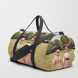 Two Pretty Kitties: Out for a Stroll Duffle Bag
