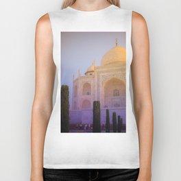 Morning Colors over Taj Mahal Biker Tank
