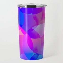 Violet and blue soap bubbles. Travel Mug