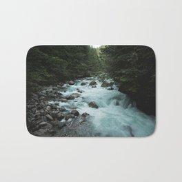 Pacific Northwest River II - Nature Photography Bath Mat