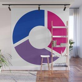 Bisexual Pride Flag Circle Wall Mural