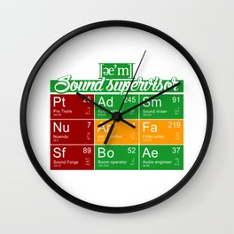 ae'm Sound supervisor Wall Clock