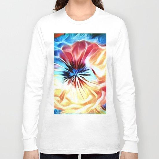 Circular Abstract Rainbow Long Sleeve T-shirt