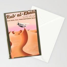 Rub' al Khali Desert travel print. Stationery Cards