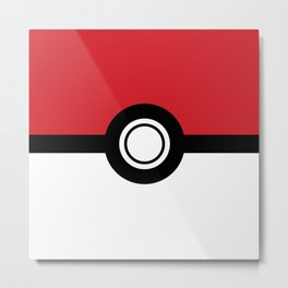 Poke-Ball Metal Print
