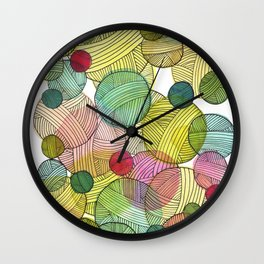 Yarn Stash Wall Clock