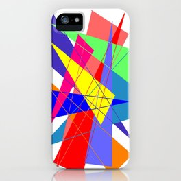 Colour triangles iPhone Case