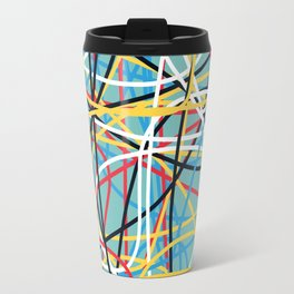 Colored Line Chaos #12 Travel Mug