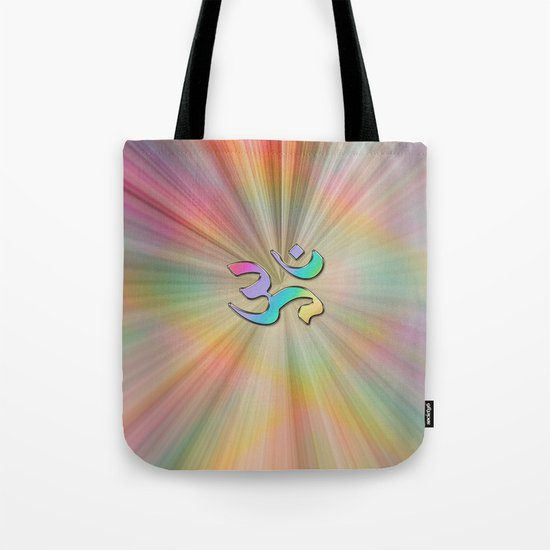 Rainbow Sunburst OM Tote Bag