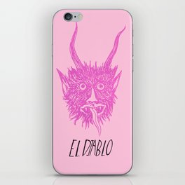 The Pink Devil iPhone Skin