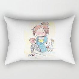 Cat & Cocoa Rectangular Pillow