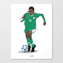 Jay Jay Okocha - Country - Nigeria 1998  Canvas Print