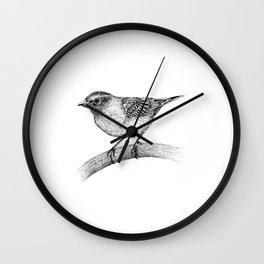 Chipping Sparrow Wall Clock