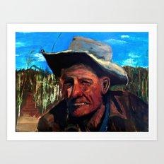 Man In Field Art Print