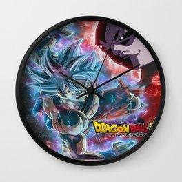 Dragon ball super son goku vs jiren Wall Clock