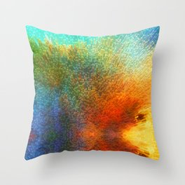 Color Infinity - Abstract Art By Sharon Cummings Throw Pillow