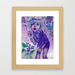 purple indigo violet Framed Art Print