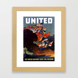 The United Nations Fight For Freedom Framed Art Print