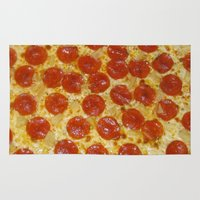 pizza Area & Throw Rugs featuring Pizza by Katieb1013