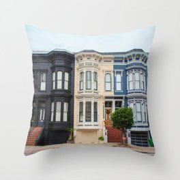 Colorful homes Throw Pillow
