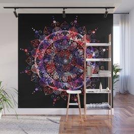 Black Cosmic Mandala Wall Mural