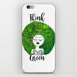 Think Green iPhone Skin