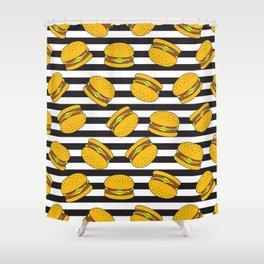Burger Stripes By Everett Co Shower Curtain