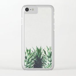Pineapple Leaves Clear iPhone Case