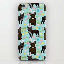 French Bulldog brindle coat easter spring dog costume custom pet portraits iPhone Skin