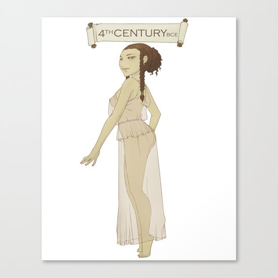 Historical Pin-Up - 4th Century BCE Canvas Print