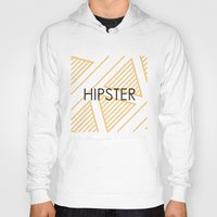 hipster Hoodies featuring Hipster by Mr and Mrs Quirynen