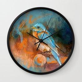 A Splash Of Bluebird Wall Clock