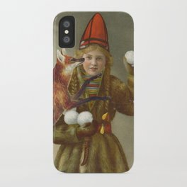 Red fox return iPhone Case