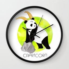 Panda Zodiac Capricorn Wall Clock