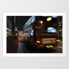 Night Bus Art Print