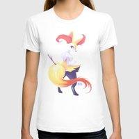 kitsune T-shirts featuring Colorful Kitsune by Kaydee Elaine - Odd Kitten Art