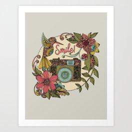 Smile bird Art Print
