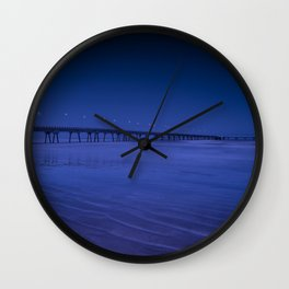 Pier photography night Wall Clock