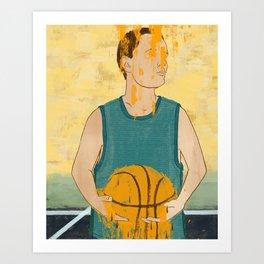 Losing my love for basketball Art Print