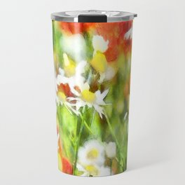 The Colors Of Spring On A Sunny Day Watercolor Travel Mug