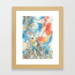 Carp Streamer Framed Art Print