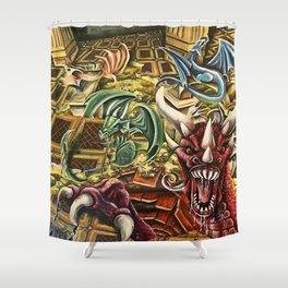 Dragon's Keep Shower Curtain