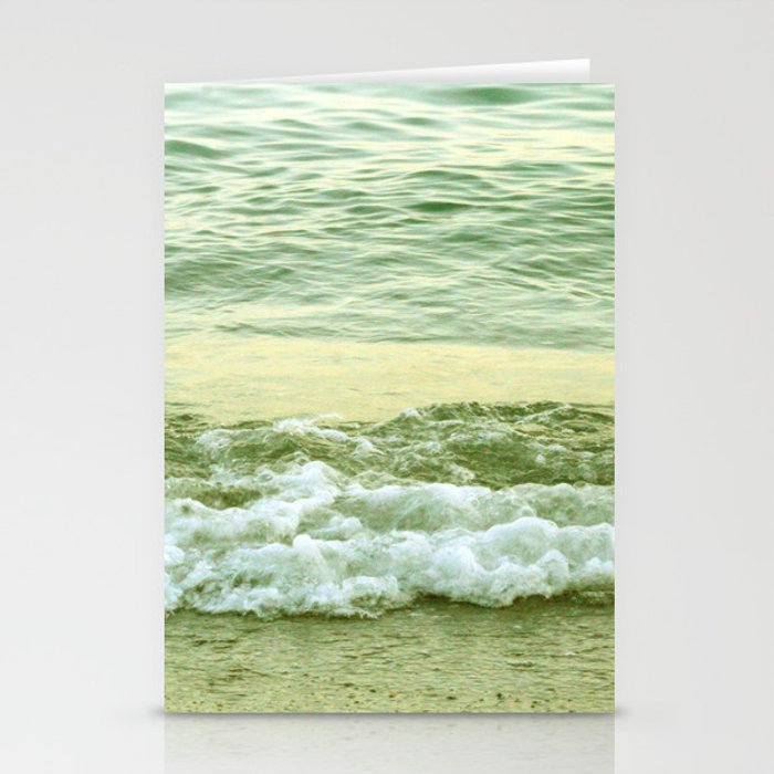 surf lace: gold variations Stationery Cards