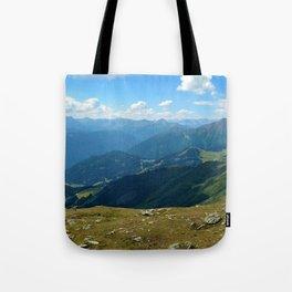 panorama on adventure park hög alps serfaus fiss ladis tyrol austria europe Tote Bag